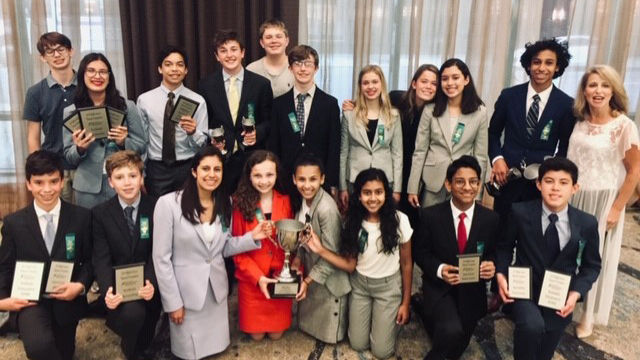 Middle School Speech Team Excels at National Tournament
