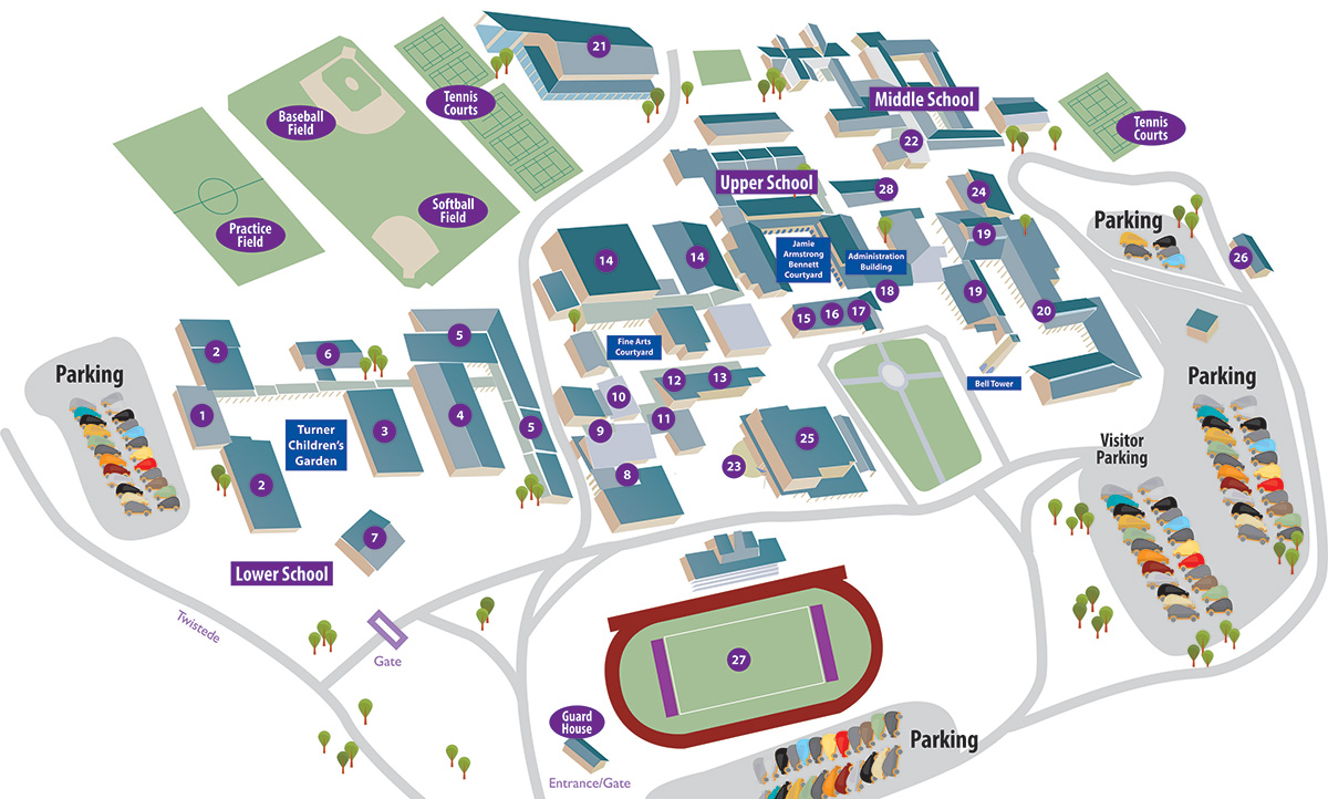 Campus Map Saint Mary S Hall Private School San