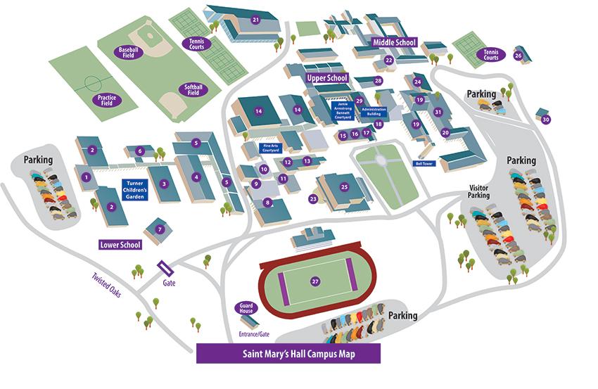 Campus Map Saint Mary S Hall Private School San Antonio Texas